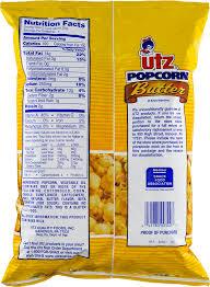 Utz Halloween Pretzels Nutrition Information by Utz Butter Popcorn 4 0 Oz Walmart Com