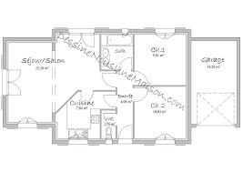 plan maison plain pied 2 chambres plans de maisons individuelles avec 2 chambres