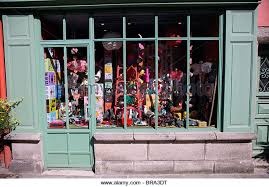 Shop Window Of Old Toys Quimper France