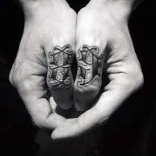 Creative Simple Numbers Hand Tattoos For Men