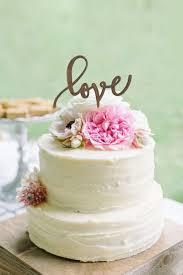 Rustic Wedding Cake Topper LOVE