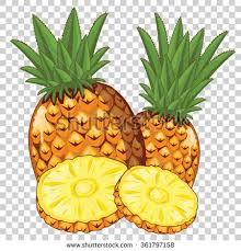 Pineapple Vector Isolated Transparent Background Stock Vector