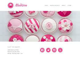 Wordpress Bakery Cupcake Site
