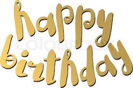 Happy birthday text hand lettering handmade calligraphy vector