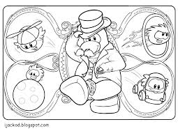 Club Penguin Puffle Coloring Pages Printable Sheet 2014