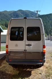 DIY Sprinter Camper Van Exterior Rear View Photo 3Up Adventures