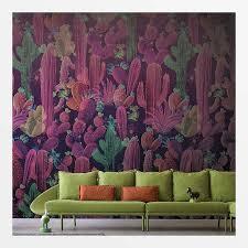 kaktus tapete grün lila kaufen tapeten shop tapeten