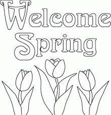 Welcome Coloring Page Pages Related To Spring