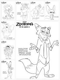 Coloring Sheets New Clips For Zootopia