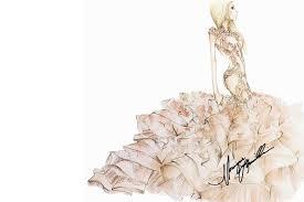Karl Lagerfeld Alexander Wang More Designers Sketch Lady Gaga Wedding Dress Ideas