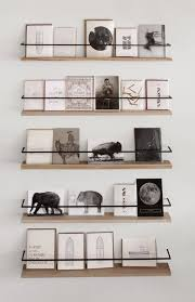 These Floating Metal And Wood Shelves Are So Cool The Accent Reminds Me Of A Safety Rail Retail Therapy