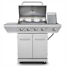 Nexgrill 4 Burner Propane Gas Grill in Stainless Steel with Side