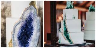 Cake Decoration Ideas With Gems by Geode Wedding Cakes Trendy Wedding Ideas
