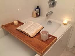 Bathtub Caddy With Reading Rack by Build A Bathtub Tray Youtube
