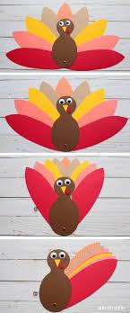 Paper Turkey Craft For Kids To Make Thanksgiving
