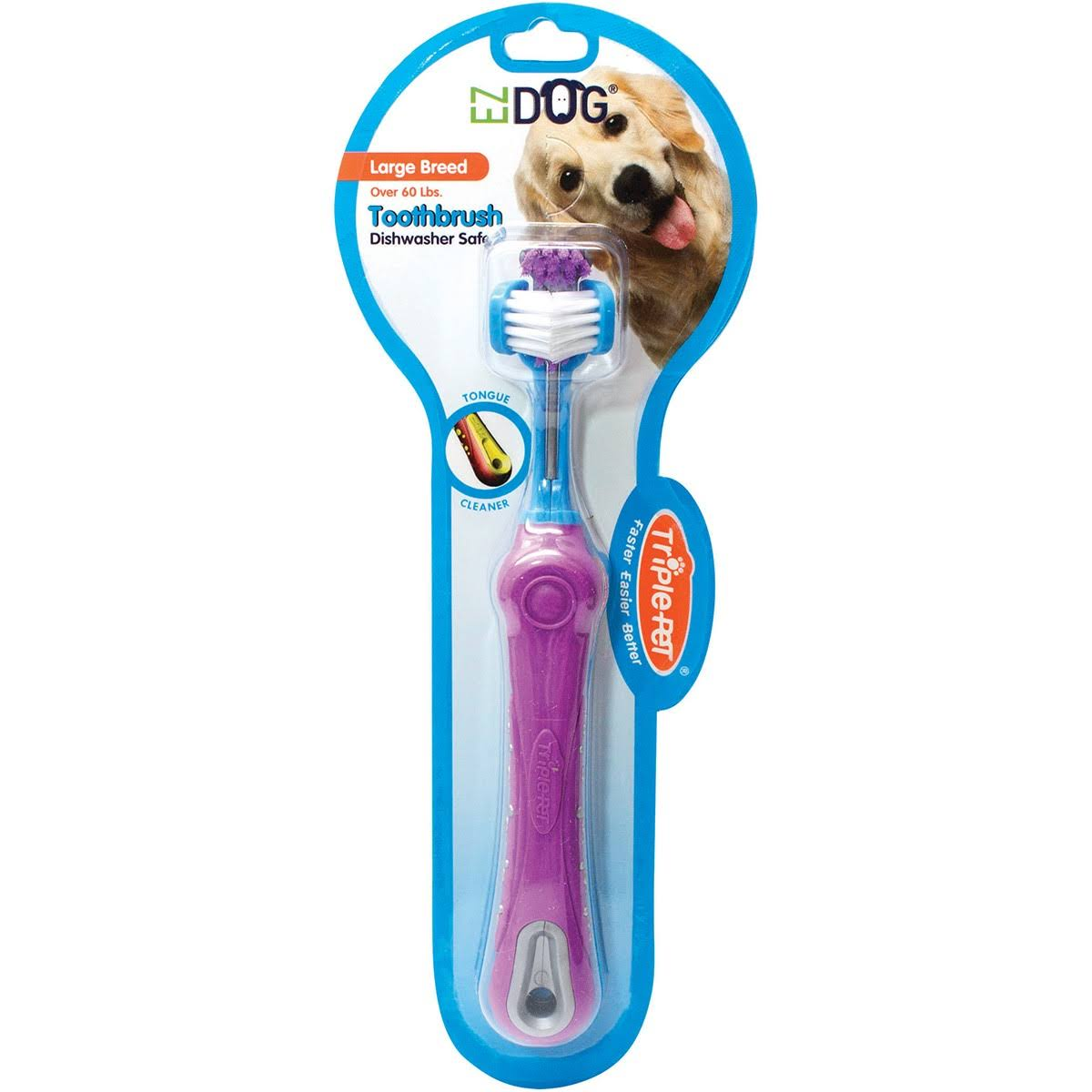 Triple Pet 3d EZ Dog Toothbrush for Large Breeds