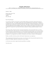 Sample Cover Letter Admin