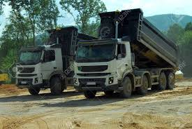 100 Big Truck Videos Two S Tipper At Work Stock Photo Picture And Royalty Free
