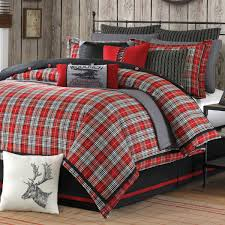 Wooded River Bedding by Williamsport Plaid Bed Set Supernatural Bedding The B U0026b That