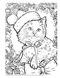 Cute Christmas Holiday Coloring Book Design Originals 32 Kittens Puppies And Other Critters In One Side Only Designs On High Quality Extra Thick