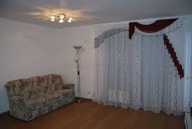 klassischer wohnzimmer vorhang mit wellenartigen