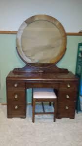 Birdseye Maple Vanity Dresser by Waterfall Dresser Vanity Set Value My Antique Furniture