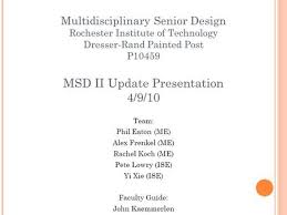 r i t mechanical engineering design concepts and selection