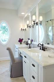 Bathroom Makeup Vanity Height by Houston Counter Height Chairs Bathroom Traditional With Marble