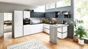 grifflose l küche feel nolte küchen mit front in matt arcticweiss und schwarz