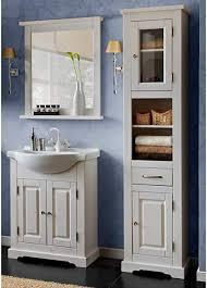 lomadox landhaus badezimmermöbel set kiefer massivholz weiß