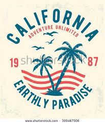 Vector Illustrator California Typography For T Shirt Print Illustration