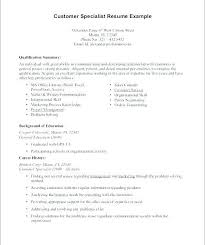 Entry Level Customer Service Resume Professional Summary Examples With For