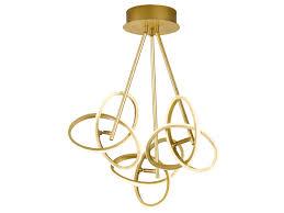 led deckenleuchte in blattgold optik 39w verstellbar designerleuchte esszimmer