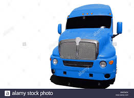 100 Big Blue Truck Blue Semi Truck Isolated On A White Background Stock Photo