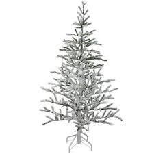 Slim Flocked Artificial Christmas Trees by Alpine Christmas Tree Ebay