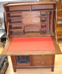 Drop Front Writing Desk by Drop Front Victorian Solid Walnut Desk C1890 For Sale Antiques