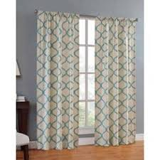better homes and gardens scallops with poms curtain panel image 1