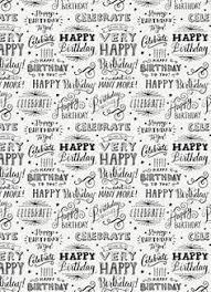 Happy Birthday Chalk Tissue Paper