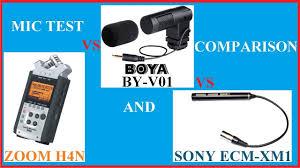 100 V01 BOYA BY Camera Microphone Test