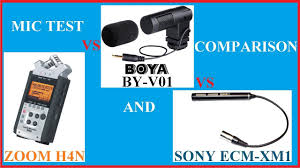 100 V01 BOYA BY Camera Microphone Test