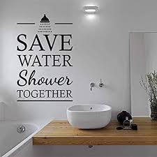crjzty sparen sie wasser dusche zusammen zitieren vinyl