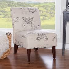 Linon Bradford Accent Chair With Butterfly Print (Linen ...