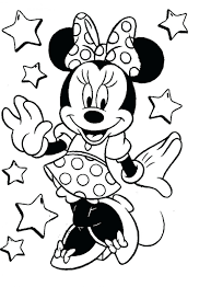 Mickey Mouse And Minnie Coloring Pages Online For Kids To Print Color Large Size