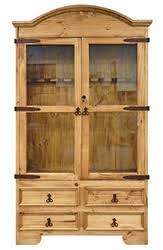 Rustic Natural Wax Gun Cabinet With Drawers MDR 05 1 10 20