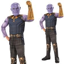 Boys Deluxe Thanos Costume Avengers Infinity War Child Fancy Dress