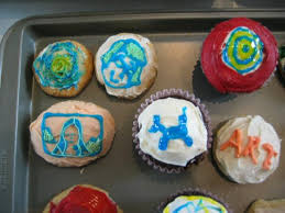 Starry Night And Sara Face Jasper Johns Cupcakes