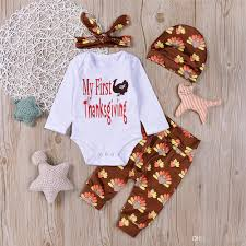 2017 mikrdoo happy thanksgiving clothes suit newborn my first gift
