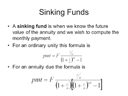 Sinking Fund Formula For Depreciation by Sinking Fund Calculations Sinks Ideas