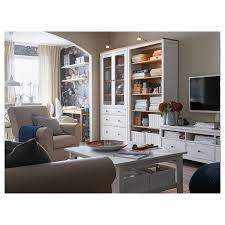 hemnes vitrine mit 3 schubladen weiß gebeizt hellbraun 90x197 cm