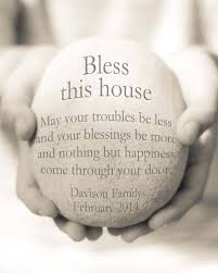Bless This House Print Blessing New Home Gift Housewarming Personalized